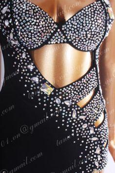 LATIN RHYTHM SALSA BALLROOM COMPETITION DANCE DRESS - SIZE S, M, L (HS1143)