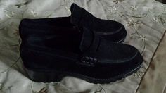 DKNY SUEDE PENNY LOAFERS WORN ONCE IN EUC #DKNY #LOAFERS