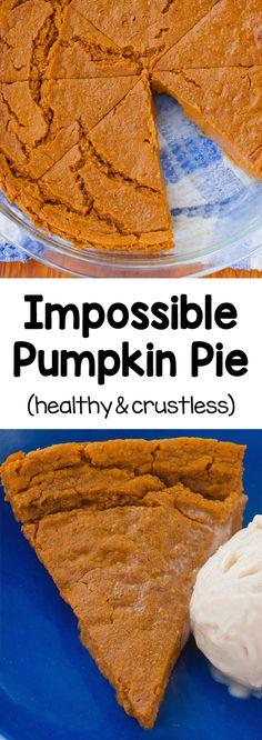 Impossible Creamy Healthy Pumpkin Pie Recipe Healthy Recipes, Fall Recipes, Whole Food Recipes, Cooking Recipes, Dessert Recipes, Vegan Sweets, Healthy Desserts, Healthy Baking, 100 Calorie Desserts