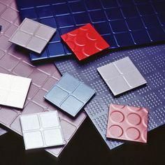 Endura Solid Color Rubber Floor Tiles colors.