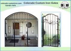 We at #Coloradocustomironworks offer high quality #irongates, with exceptional services. We are highly specialized in providing professionally made, #irongates #windowguards and other products, that are customized specific to your taste and needs. http://coloradocustomiron.com/services/custom-iron-gates/