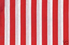 red & white striped fabric