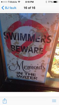Swimmers beware, from BJ
