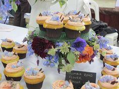 cupcake and flower display