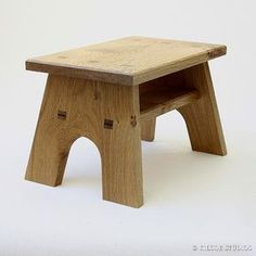 Simple wooded foot stool - upcycled walnut would be nice