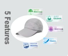 ELLEWIN Summer Baseball Cap Quick Dry Cooling Sun Hats Flexfit Sports Caps Mesh Hat For Golf Cycling Running Fishing Outdoor Research Hats For Big Heads, Summer Hats For Women, Outdoor Research, Sports Caps, Sun Hats, Quick Dry, Baseball Cap, Cycling, Fishing
