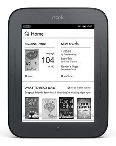 Nook simple touch - only $99 and it seriously looks like a page in a book! perfect size - bigger than iphone but smaller than ipad - and no glare in the sun - must have!!