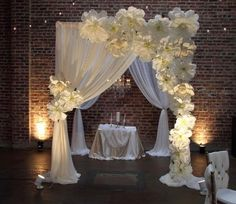 paper flowers background, DIY wedding background, wedding arch