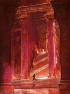 A Dance With Dragons by Marc Simonetti (Fantasy Art Watch) Fantasy City, Fantasy Places, Fantasy World, Fantasy Concept Art, Fantasy Artwork, Art Game Of Thrones, A Dance With Dragons, Art Watch, Fantasy Setting