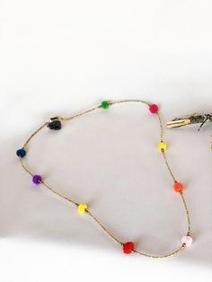 Multi Pom Aztec Necklace