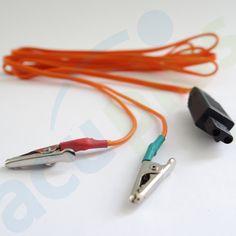 CABLE CAIMÁN ESTIMULADOR   Estos cables vienen en entrada redonda para el KWD-808 modelo anterior y entrada cuadrada para el KWD actual.