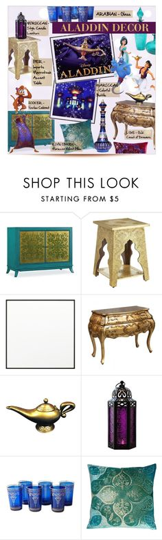 """A WHOLE NEW WORLD"" by larissa-takahassi ❤ liked on Polyvore featuring interior, interiors, interior design, home, home decor, interior decorating, Hooker Furniture, Pier 1 Imports, By Lassen and Disney"