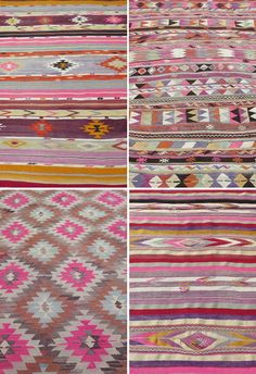 A BEDROOM WITH A SOFT PINK KILIM RUG | THE STYLE FILES