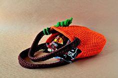 Halloween+Pumpkin+Crochet+Pattern | crochet-pumpkin-treat-bag-halloween-pattern | DIY CRAFTS SEWING