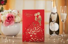 Double Happiness Word Red Flower Wedding Invitation Cards With Envelopes Seals. - It is great for Wedding. How To Make Invitations, Elegant Wedding Invitations, Wedding Invitation Cards, Wedding Cards, Wedding Gifts, Invites, Wedding Card Design, Wedding Designs, Unique Wall Decor