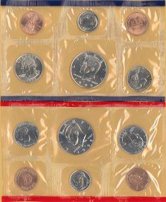 1984 through 1988 P/&D Lincoln Memorial Cents from Mint sets