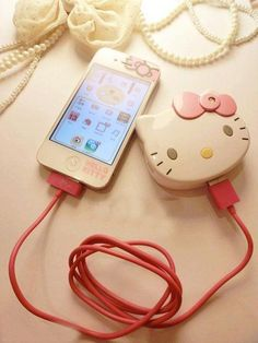 Hello Kitty Mobile Charger | kawaii | Pinterest