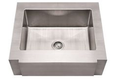 Whitehaus WHNCMAP3026 Stainless Steel 30'' Single Apron Front Kitchen Sink at bluebath.com