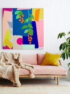 Love everything about this space. Leah Bartholomew Paintings — The Design Files | Australia's most popular design blog.