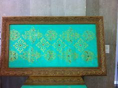 Tela Indiano Verde em pintura acrilica com tecnica mista 2013 - 70x120 - acrylic on canvas - Melina Ollandezos