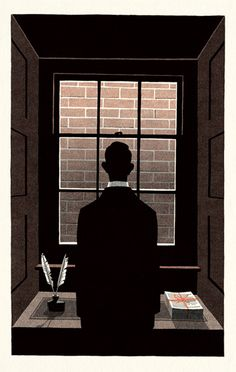 Herman Melville's Shorter Fiction - Bill Bragg Illustration Oh Bartleby I get you.