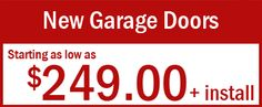 Purchase New Garage doors starting at just $ 249 with Installation  If you are looking for new #garagedoors then get ready to buy it at just $ 249 with installation. Atlanta Garage Door Experts is offering exclusive range of new garage doors... View more @ http://atlantagaragedoorexperts.com/special-offers/