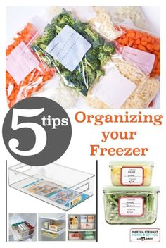 5 Tips for Organizing your Freezer - Know what you have and how long you've had it! Optimize your space!