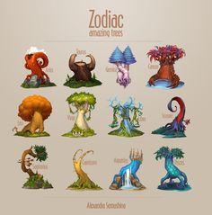 Amazing trees. Zodiac on Behance
