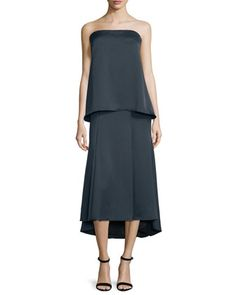 Strapless+Silk+Popover+Gown++by+Camilla+and+Marc+at+Neiman+Marcus.
