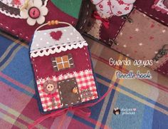 Librito guarda agujas Sweet Home. Tutorial                                                                                                                                                     Más