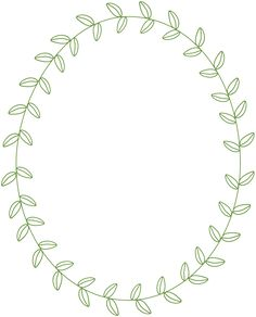 Free Frame with Leaves