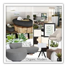 """""""Organic Modern"""" by grapecrush ❤ liked on Polyvore featuring interior, interiors, interior design, home, home decor, interior decorating, Ralph Lauren, Lights Up!, Gus* Modern and Knoll"""