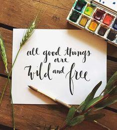 Custom Calligraphy Quote Artwork by Wildflower Art Studio