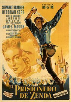 DVD CINE 1236 - El prisionero de Zenda (1952) EEUU. Dir: Richard Thorpe. Sinopse: nun reino imaxinario vive o monarca Rodolfo e o seu malvado medio irmán, o Duque de Strelsau. En vésperas da súa coroación, Rodolfo é secuestrado polo secuaz  do Duque nunha conspiración para usurpar o trono. Afortunadamente aparece un dobre, de gran parecido físico, que é recrutado polo coronel Zapt para salvar a coroa