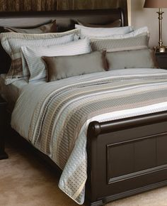 I like this bedding. Master Bedroom, Bedroom Decor, Bedroom Ideas, King Pillows, Egyptian Cotton, Bedding Collections, Comforter Sets, Duvet Cover Sets, King Size