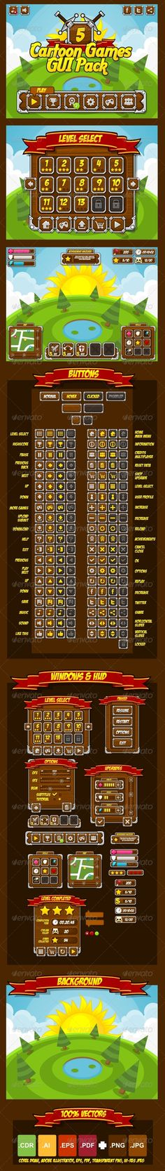 Cartoon Games GUI Pack 5  #tower #medieval • Download ➝ https://graphicriver.net/item/cartoon-games-gui-pack-5/4708033?ref=pxcr