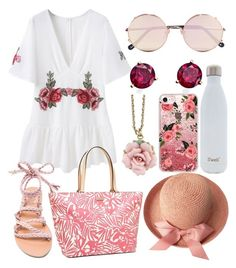 """Pack and Go"" by prigelprasojo ❤ liked on Polyvore featuring Ancient Greek Sandals, Sunday Somewhere, Casetify, Kate Spade, S'well, 1928 and Bloomingdale's"