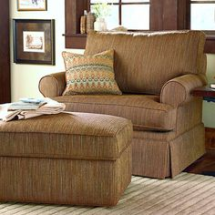 HGTV HOME Custom Upholstery Medium Chair and a Half #bassettfurniture #accentchair