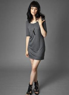Women's Scoop Neck Tunic Dress from Kali,  Dress, ecofriendly  chic  soft  sustainable  military, Eco Friendly