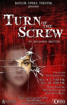 """""""Turn of the Screw,"""" presented by #Baylor Opera this fall."""