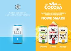 we have new flavors for our coconut water and also coconut water with collagen