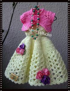 #Cléa5 #Crochet #Vestido #Dress #Bolero #Casaquinho #Muñeca #Doll #Barbie #RaquelGaucha
