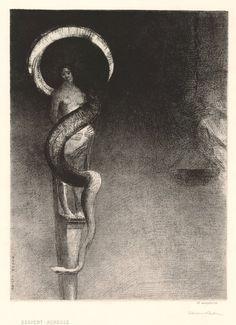 Serpent-Auréole, 1890 - Odilon Redon