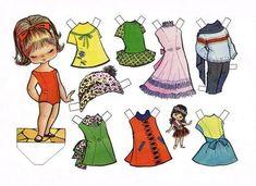 muñecas recortables de papel | ... encantaba jugar era con mis muñecas recortables, muñecas como estas