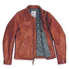 The Moto Jacket in Whiskey Steerhide. The second leather jacket I've pinned.