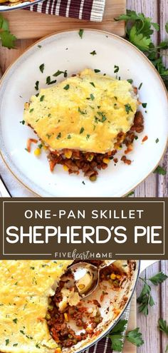 Skillet Shepherd's Pie is the perfect addition to your Father's Day menu! This recipe is quick and easy to throw together, loaded with savory beef and colorful vegetables. Your family will love this hearty and comforting one-pan dinner idea on Father's Day!