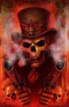 The Skull And Two Smoking Barrels