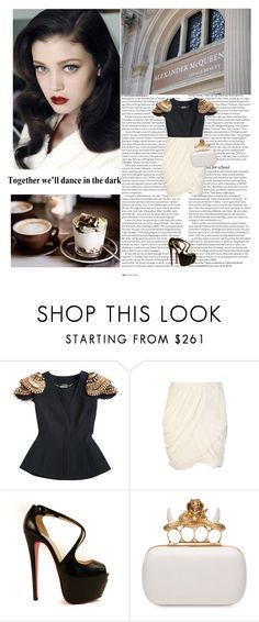 """Together we'll dance in the dark"" by sirius-black ❤ liked on Polyvore featuring ASOS, Lane Crawford, Alice + Olivia, Christian Louboutin and Alexander McQueen"