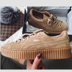 PUMA Women Casual Running Sport Shoes Sneakers Khaki