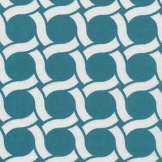 Geocentric Canvas - Circles Turquoise by Michelle Engel Bencsko for Cloud 9 Fabrics Turquoise Fabric, Pink Fabric, Turquoise Curtains, Baby Fabric, Textures Patterns, Fabric Patterns, Sewing Patterns, Fabric Design, Pattern Design
